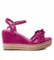 Compar Xti Sandals wide wedge 035040 fuchsia - Wedge height: 10cm