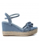 Compar Xti Sandals wide wedge 035040 jeans - Wedge height: 10cm