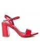 Sandalias tacón ancho 032033 rojo -Altura tacón: 8cm-