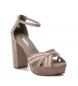 Comprar Xti Heel sandals 035010 taupe -Heel height: 11cm