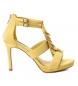 Sandalia 032077 amarillo -Altura tacón: 10cm-