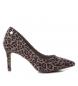 Zapato tacón fino salón 035058 taupe -Altura tacón: 8cm-