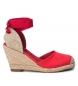 Zapato cuña 049136 rojo -Altura cuña: 8cm-