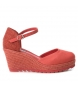 Compar Xti Shoe 048941 coral - Wedge height: 7.5 cm