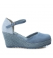 Compar Xti Espadrilles wide wedge jute 048941 jeans - wedge height: 10cm