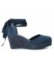 Compar Xti Alpargatas wedge other half 034109 navy - Wedge height: 8cm