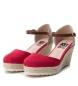 Comprar Xti Sandálias cunha meia juta 034102 vermelho - altura da cunha: 8cm