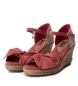 Comprar Xti Alpargatas wedge half jute 049105 burgundy - Wedge height: 7cm