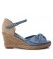 Compar Xti Alpargatas wedge half jute 049105 jeans - Wedge height: 7cm