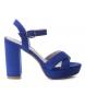 Sandalias tacón 030751 azul -Altura tacón: 12cm-