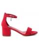 Sandalias tacón ancho 034073 rojo -Altura tacón: 6cm-