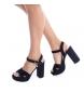 Comprar Xti Heel sandals 030751 navy -Heel height: 12cm