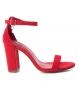 Compar Xti Sandalia tacón ancho 034071 rojo -Altura tacón: 9cm-