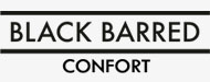 Black Barred Confort Para Hombre