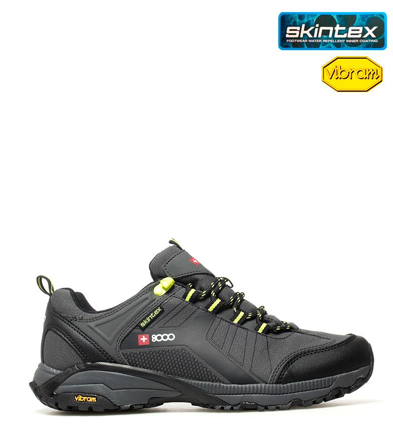 Comprar + 8000 Zapatillas de trekking Tesas gris, verde -Membrana waterproof Skintex y suela VIBRAM-