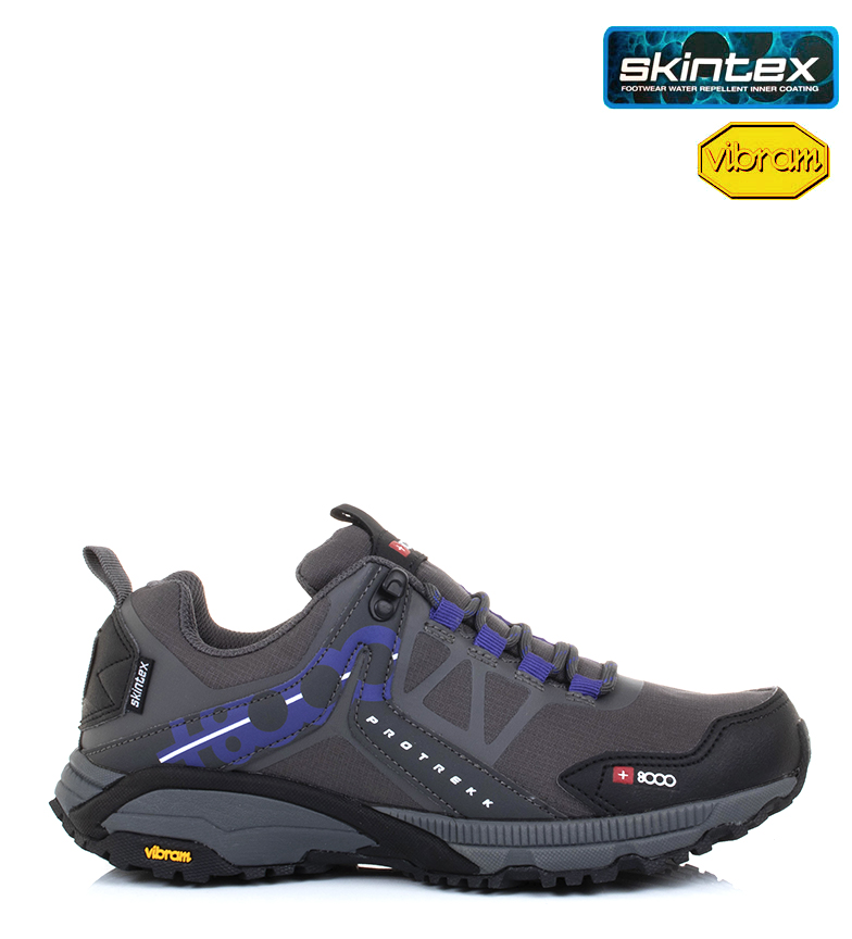 Comprar + 8000 Zapatillas trail Talca gris/ Skintex / Vibram