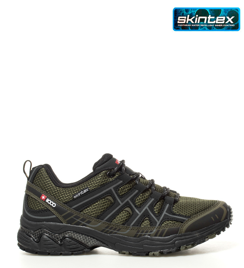 + 8000 Zapatillas trekking / hiking Topar verde Membrana waterproof Skintex