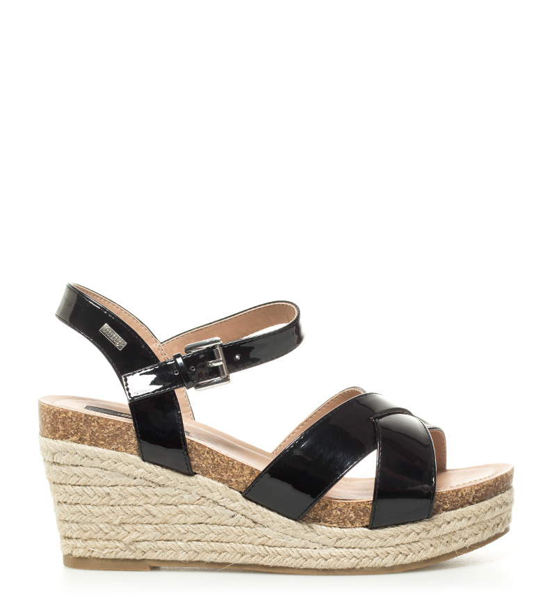 Comprar Mustang Black Dormouse Sandals - Wedge height: 8,5cm-