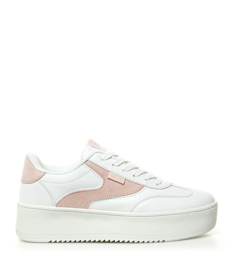 Comprar Mustang Wavey pink shoes, white - Platform height: 5cm-