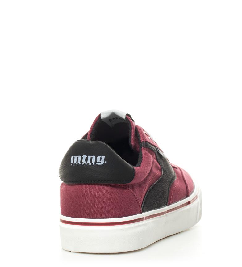 Mustang-Baskets-Burton-Homme-Tissu-Synthetique-Plat-Lacets-Casuel-Grenat-Vert miniature 6