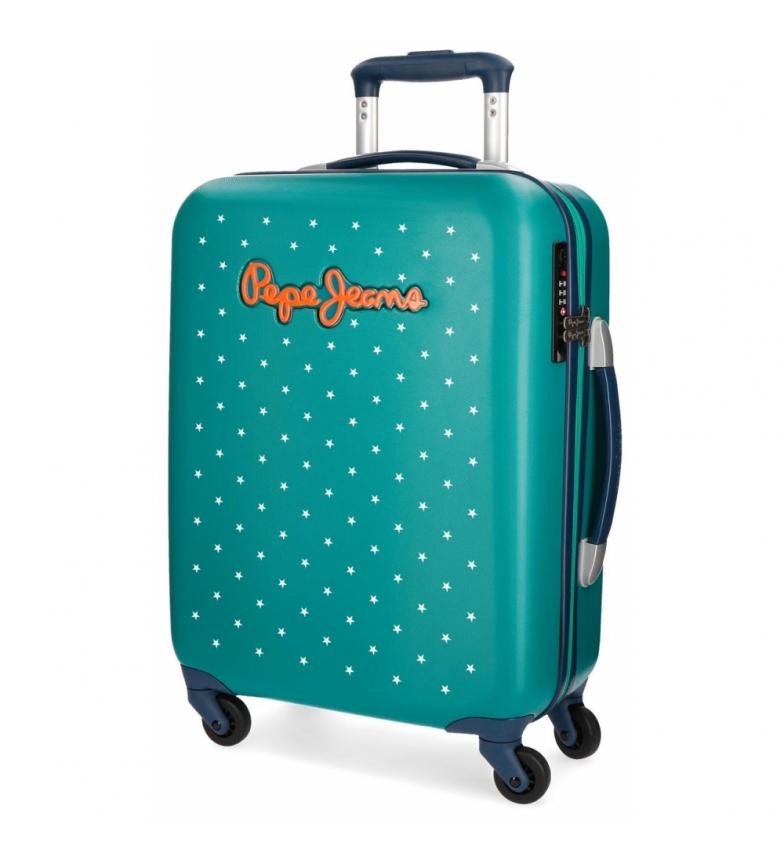 Comprar Pepe Jeans Pepe Jeans Liberty valigia cabina rigida stelle verdi -38x55x20cm-