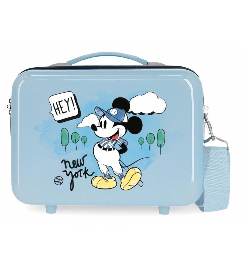 Comprar Mickey ABS Toilet Bag Let's Travel Mickey New York Adaptable light blue -29x21x15cm
