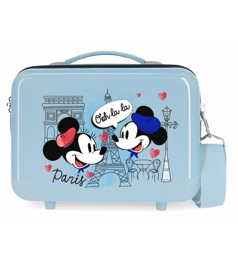 Comprar Mickey ABS Toilet Bag Let's Travel Mickey & Minnie Paris Adaptable light blue -29x21x15cm