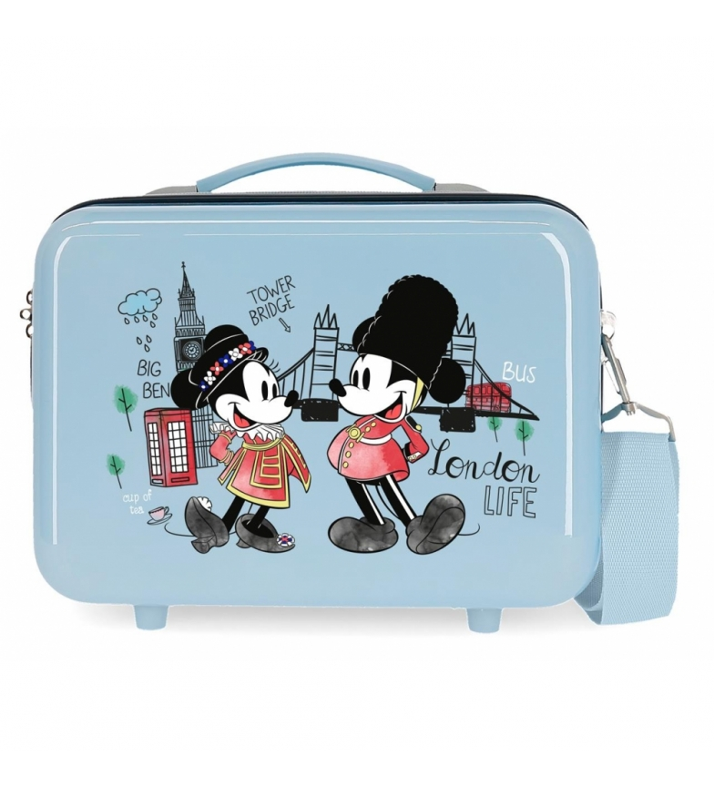 Comprar Mickey ABS Toilet Bag Let's Travel Mickey & Minnie London Adaptable light blue -29x21x15cm