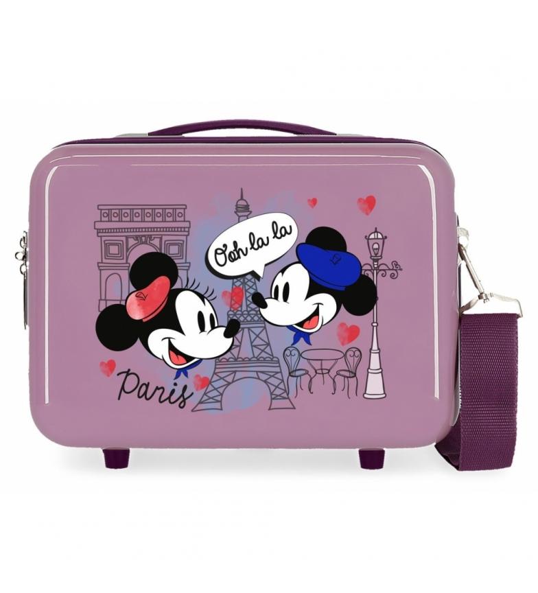 Comprar Mickey ABS Toilet Bag Let's Travel Mickey & Minnie Paris Adaptable purple -29x21x15cm