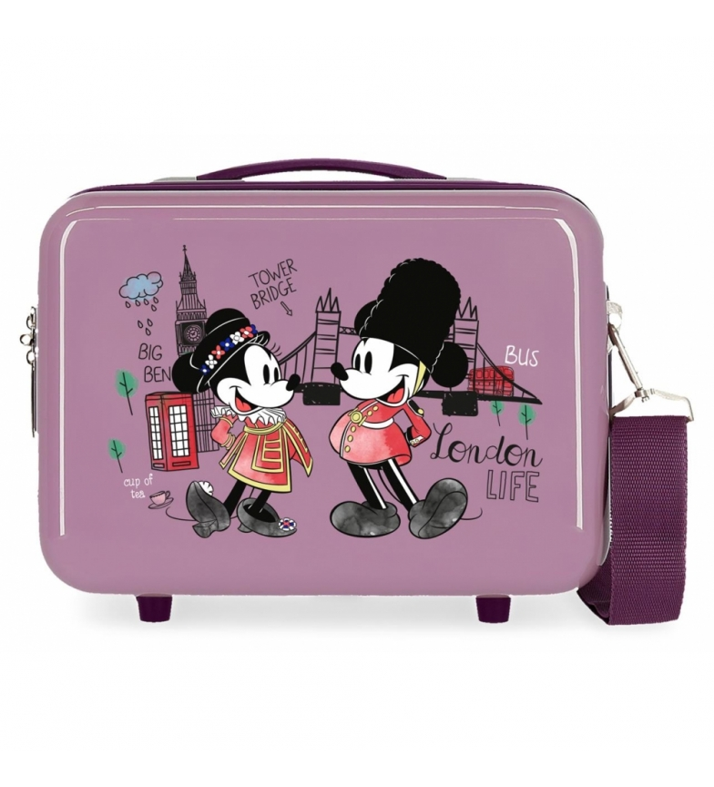 Comprar Mickey ABS Toilet Bag Let's Travel Mickey & Minnie London Adaptable purple -29x21x15cm
