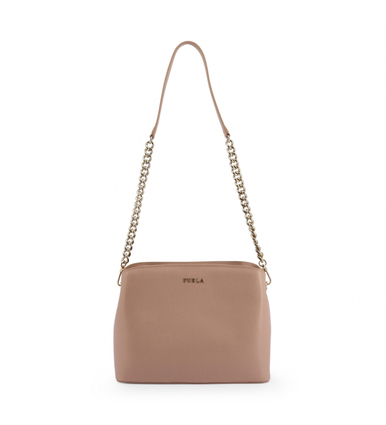 Furla Leather handbag TESSA_BWA9 pink ecru -25x20x8cm