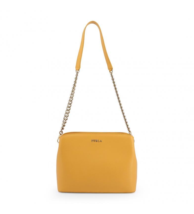 Comprar Furla Leather handbag TESSA_BWA9 yellow -25x20x8cm