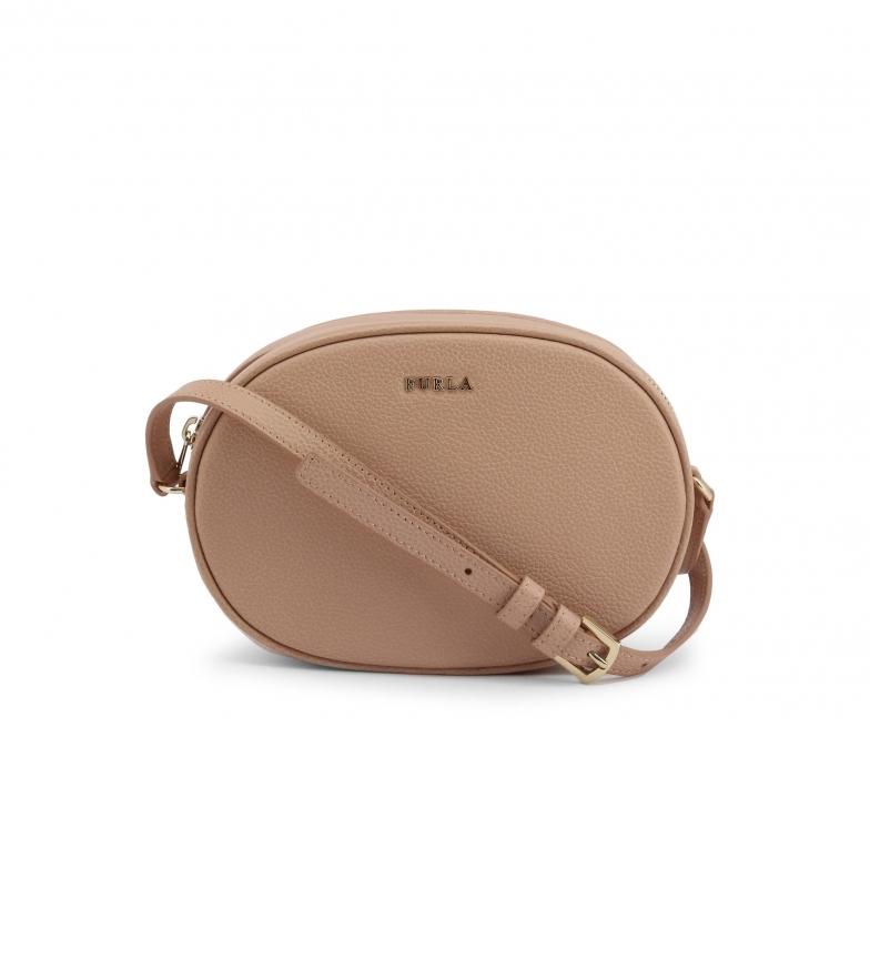 Comprar Furla CARA_VTO brown leather shoulder bag -20.5x14x7cm