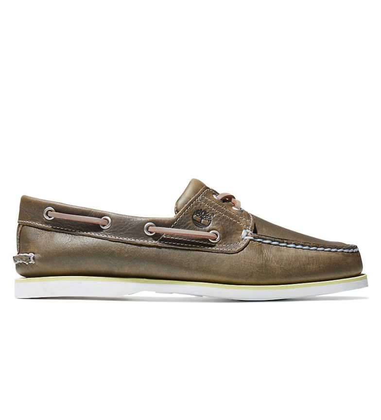 Comprar Timberland Classic beige leather boat shoes