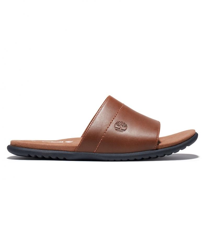Comprar Timberland Kesler Cove Slide Brown Leather Sandals