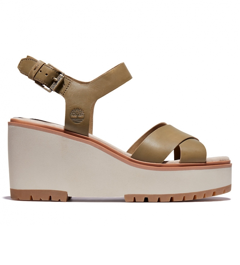 Comprar Timberland Koralyn grey leather sandals -Height of the wedge: 8cm