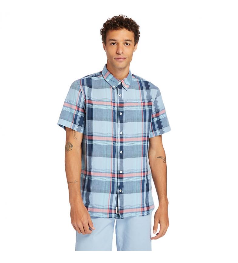 Comprar Timberland Camicia Madras in lino bianco, blu