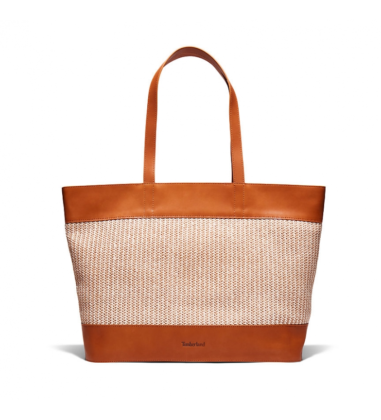 Comprar Timberland Baycrest leather tote bag brown - 31,5 x 48 x 7,5 cm