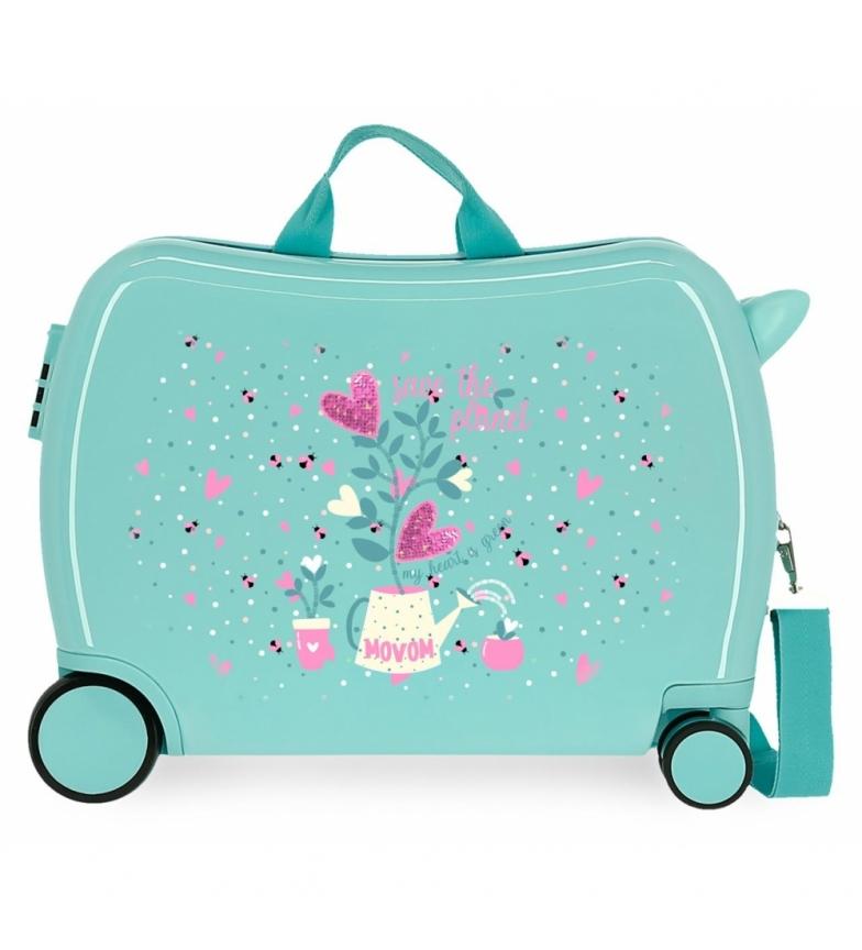 Comprar Movom Valise enfant 2 roues multidirectionnelles Movom Pot de fleurs turquoise -38x50x20cm