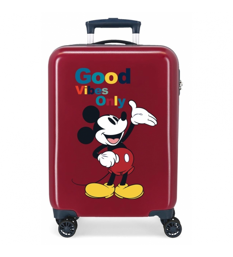 Comprar Disney Cabin Suitcase Mickey Original Good Vibes Only maroon -38x55x20cm