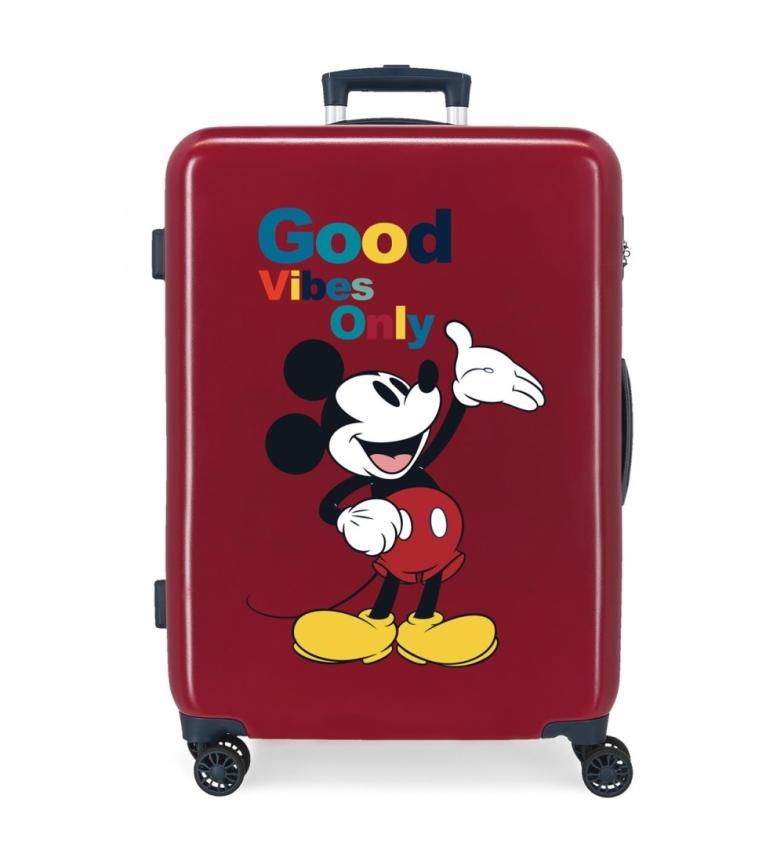 Comprar Disney Medium Suitcase Mickey Original Good Vibes Only maroon -48x68x26cm