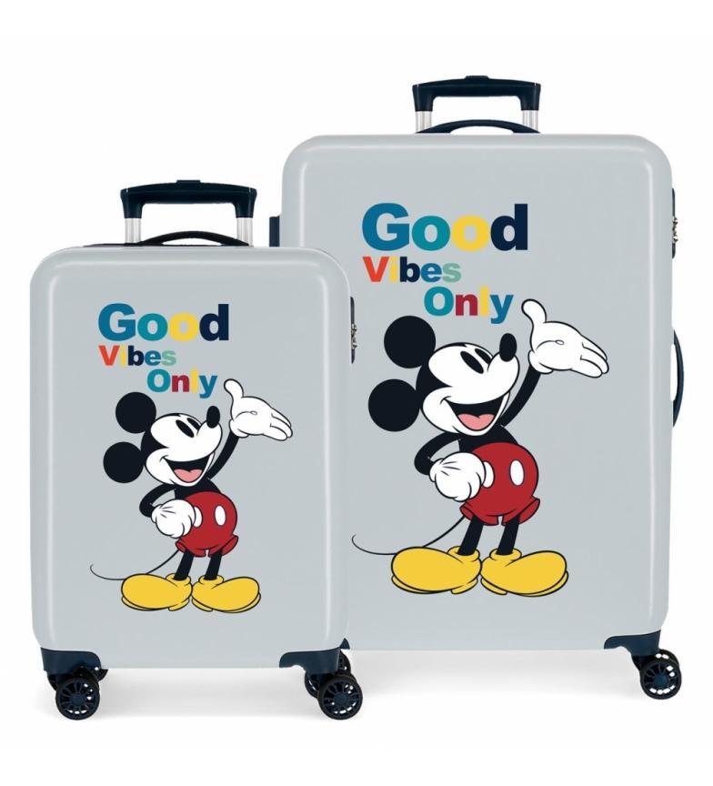 Comprar Joumma Bags Mickey Original Good Vibes Only bleu -38x55x20cm et 48x68x26cm- Ensemble de bagages Mickey Original