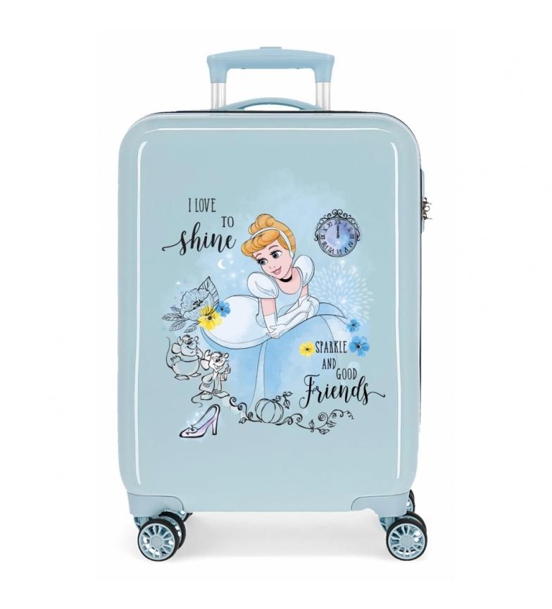 Comprar Disney Princess Celebration Princess Cinderella Cabin Suitcase rigid blue -38x55x20cm