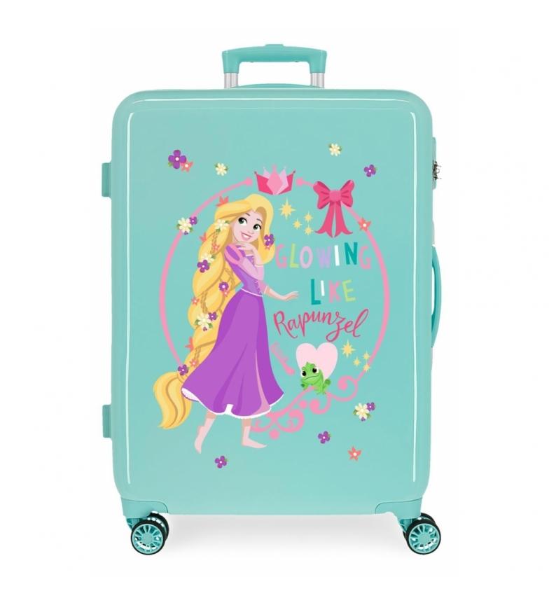 Comprar Disney Medium suitcase Rapunzel Princess Celebration rigid turquoise -48x68x26cm