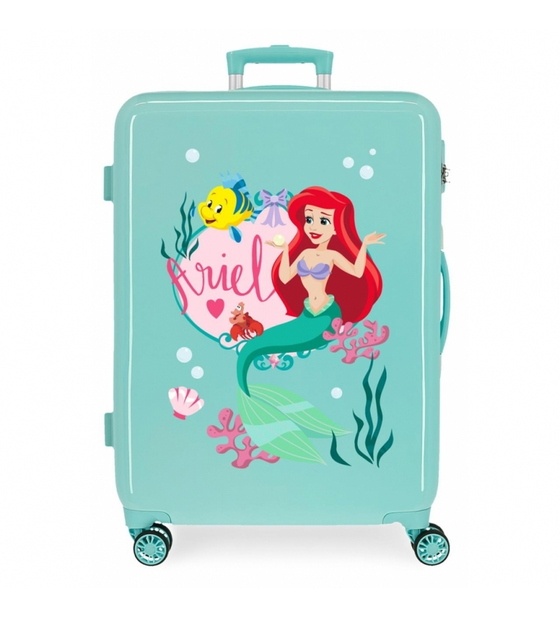 Comprar Disney Medium suitcase Ariel Princess Celebration rigid turquoise -48x68x26cm