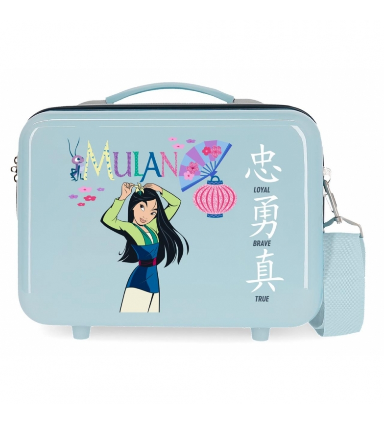 Comprar Disney ABS Mulan Princess Princess Celebration Adaptable Toilet Bag blue -29x21x15cm