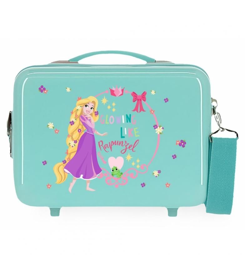 Comprar Disney Toilet Bag ABS Rapunzel Princess Celebration Adaptable turquoise -29x21x15cm
