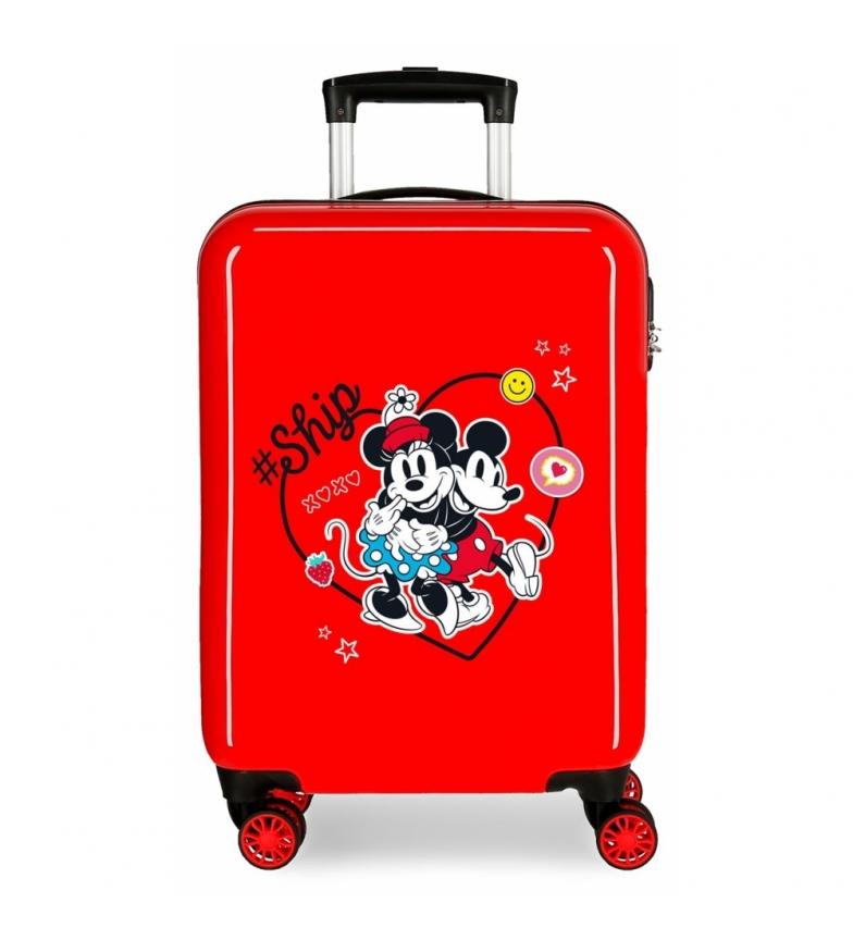 Comprar Disney Cabin Suitcase Mickey & Minnie Ship Always Be Kind rigid red -38x55x20cm