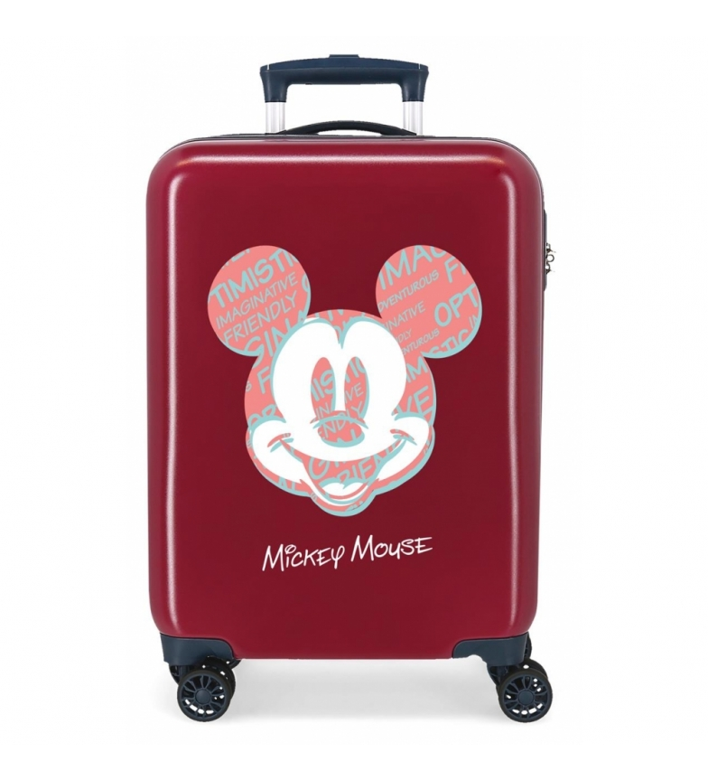 Comprar Disney Cabin bag Mickey Always Be Kind rigid maroon -38x55x20cm