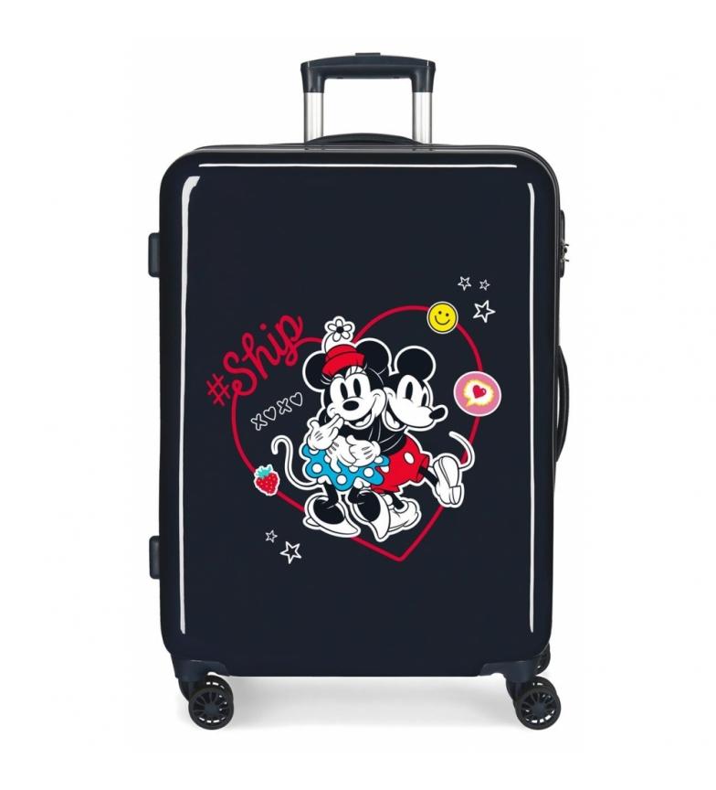 Comprar Disney Medium Suitcase Mickey & Minnie Ship Always Be Kind rigid navy -68x48x26cm